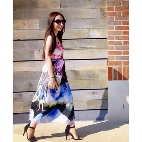 87a113586e3fa Anthropologie Dresses | Corey Lynn Calter Dress Watercolor Daybreak ...